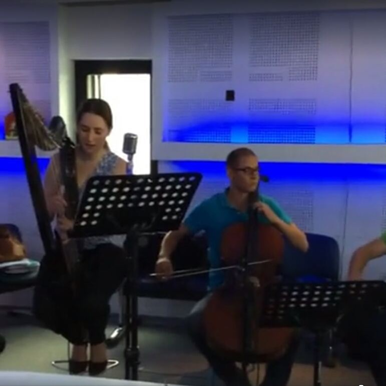 When you really want to be awake but your eyes are just not cooperating... show this morning with Quatuor Cadences at @radioifm Concert tonight 10pm at @InstitutFrancaisdeTunis