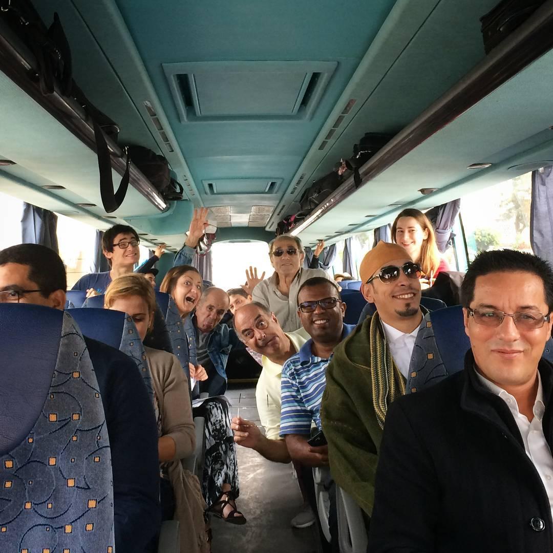 Like musicians on the last day of a tour... we're fine (sort of)! Morocco, you were a blast!   Comme des musiciens dans leur état naturel  Merci le Maroc et à bientôt! Thalla frasek!