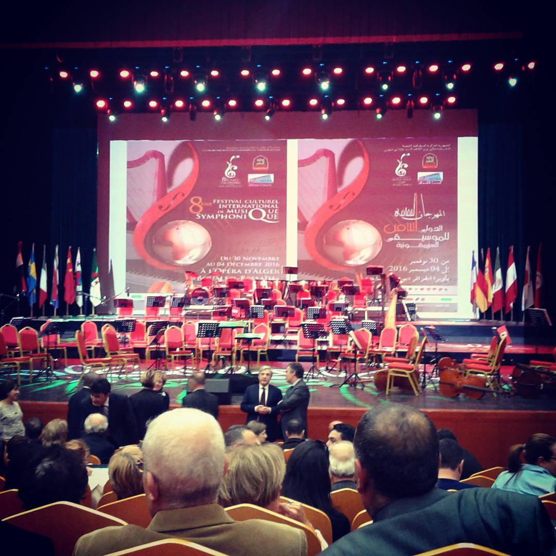 Thrilled to be playing Boieldieu's harp concerto tonight in the brand new Opera house of Algiers, Algeria!