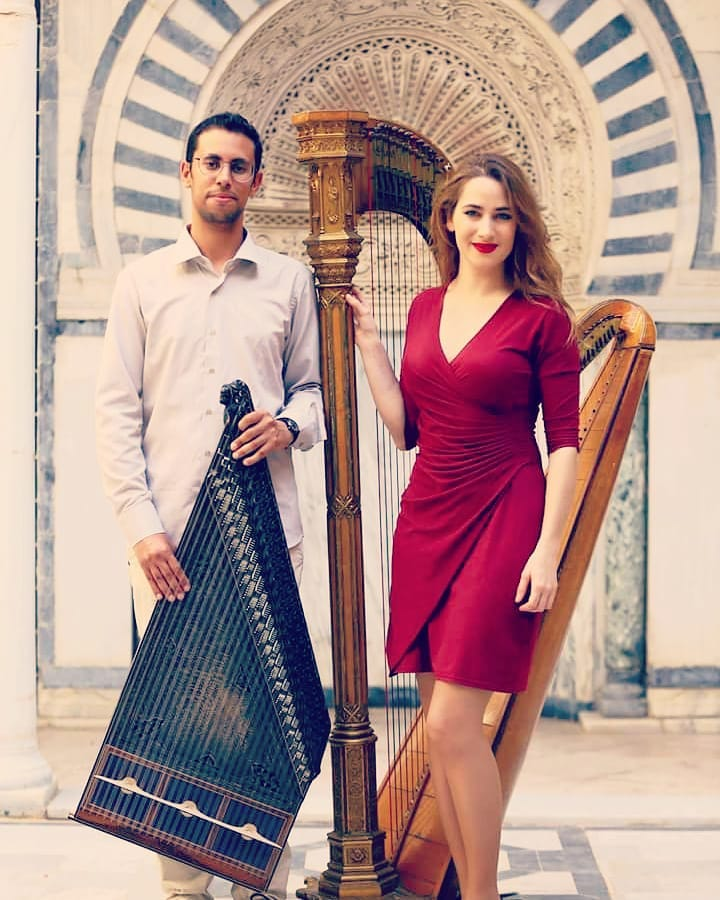 Full houses in and in for our debut concerts as a qanun and harp duet...  You're amazing! We are so grateful for the support  Bye for now Tunisia, I really look forward to the next visit!! . (We just released our first music video on YouTube: link in bio ! If you liked the concerts, check it out !!) . 📸 @ghouilanizar