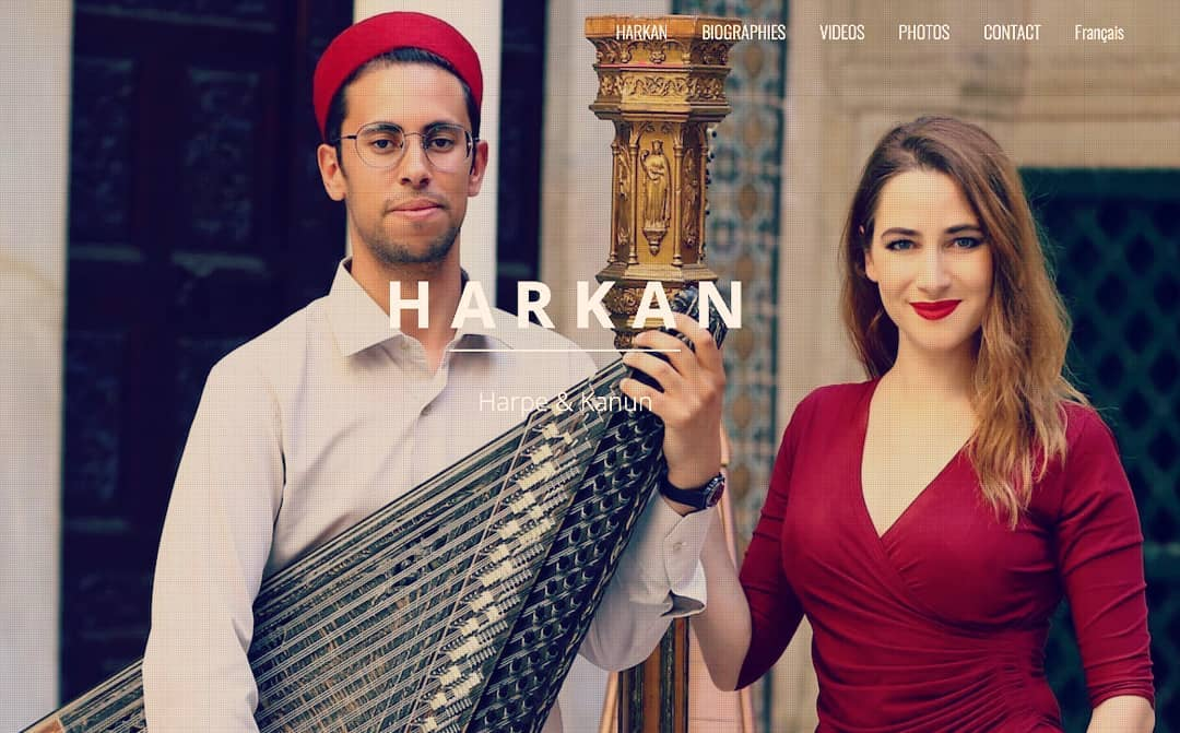 So we've got a new website for Harkan!! Check out www.harpkanun.com ! 🥂 .  On a un nouveau site web pour Harkan !! Allez jeter un coup d'œil à www.harpkanun.com ! 🤩 . 📸 @nizar_ghouila  . .