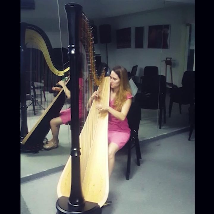 Getting the @spl_rd harp ready for a full program of French music in the Caribbean with the Camerata Caribensis!! This week we'll be playing Debussy's Dances, Boieldieu's Concerto and more gorgeous music in the Dominican Republic 🤩🤗 . Repost @cameratacaribensis