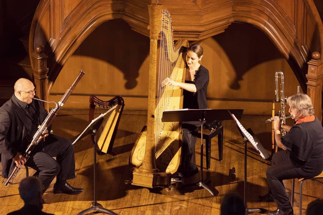 Thank you Limoges for having us this weekend!! A little memory from our flute-bassoon-harp trio concert last Sunday 🥰  Merci pour l'accueil ce week-end! Petit souvenir de notre concert en trio au Temple de Limoges dimanche dernier.