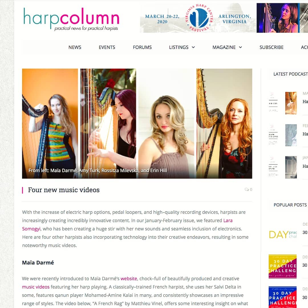 This just put a huge smile on my face; thank you so much @harpcolumn!! . Also, Harp Column always has the best advice, so you should really listen to what they say and go watch all the videos on the YouTube channel linked in bio 😇 (Weeeell, maybe not the ones from 2013 actually. I hadn't quite mastered the camera and I still have mixed feelings about my hair back then ) . Check out @r.milevska, @amyturkharp and @erinhillharp's work too, because these ladies are absolute FIRE!! . .