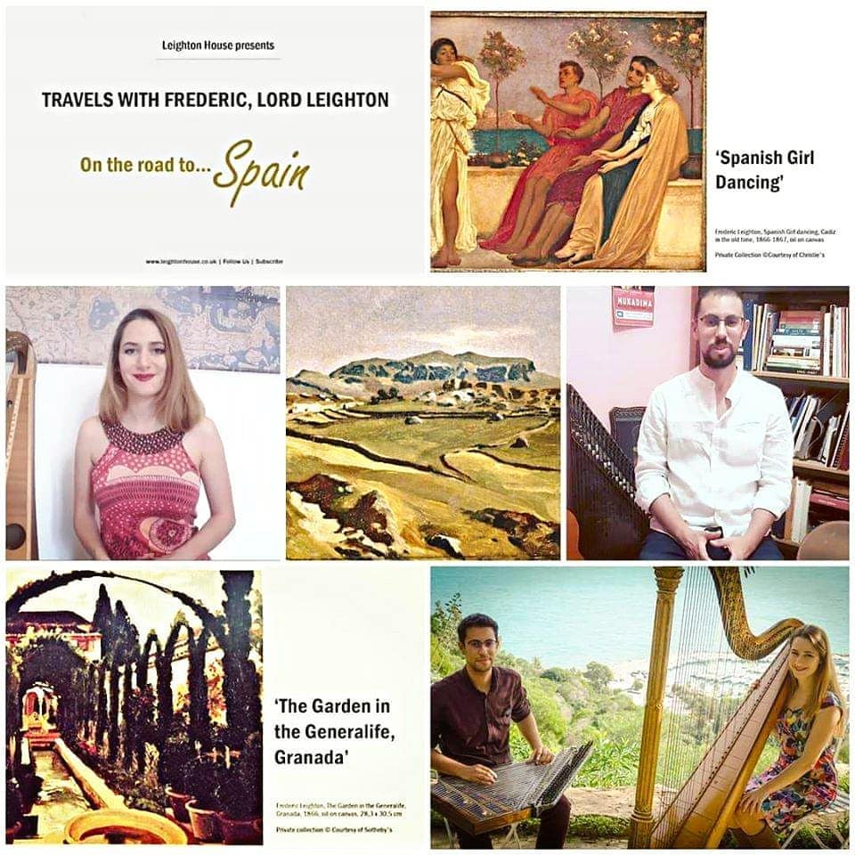 """To make up for the cancellation of our concert in London, we have been taking part in Leighton House's """"Learning from Home - ON THE ROAD..."""" series. In these videos, we got to give a bit of background on some of our pieces from the comfort of our homes 🥰  Today, we discussed a beloved Spanish masterpiece: """"Asturias"""" by Isaac Albéniz and shared a pre-pandemic live performance  To watch the full 'Spain' video : link in bio or https://youtu.be/YforGLxxASw (and the last episode, focusing on Turkey: https://youtu.be/lz8f9b5Z0gI)  Thank you @leightonhousemuseum for having us, and see you next summer, London!  . . . ."""