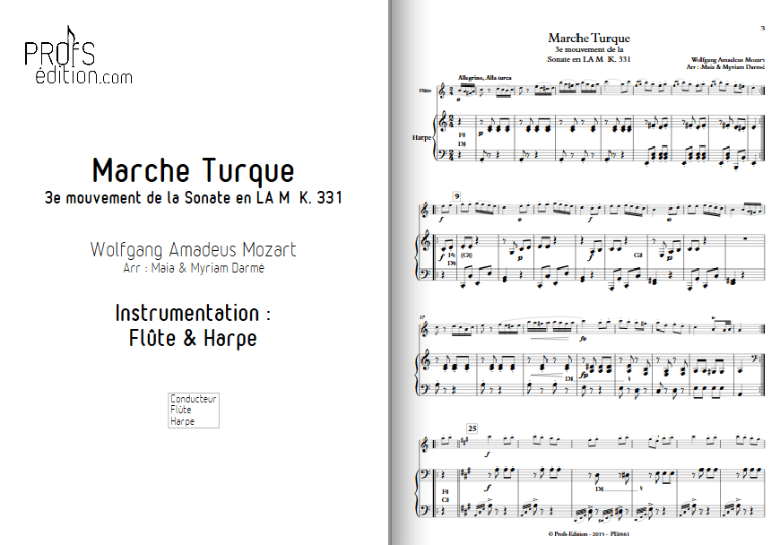 Newly Published Arrangement for Flute and Harp Duet